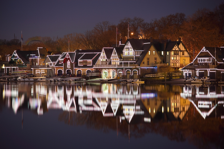Boat House Row in Winter